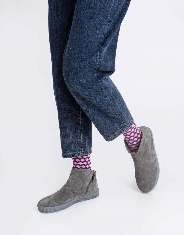נעלי נשים - Aro - מגפון NOELLE - אפור בהיר