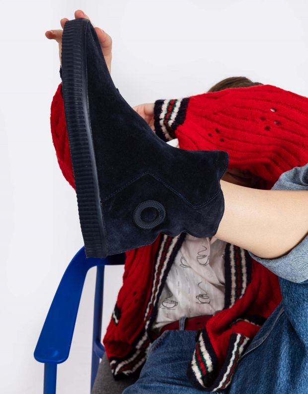 נעלי נשים - Aro - מגפון NOELLE מעטפה - כחול כהה