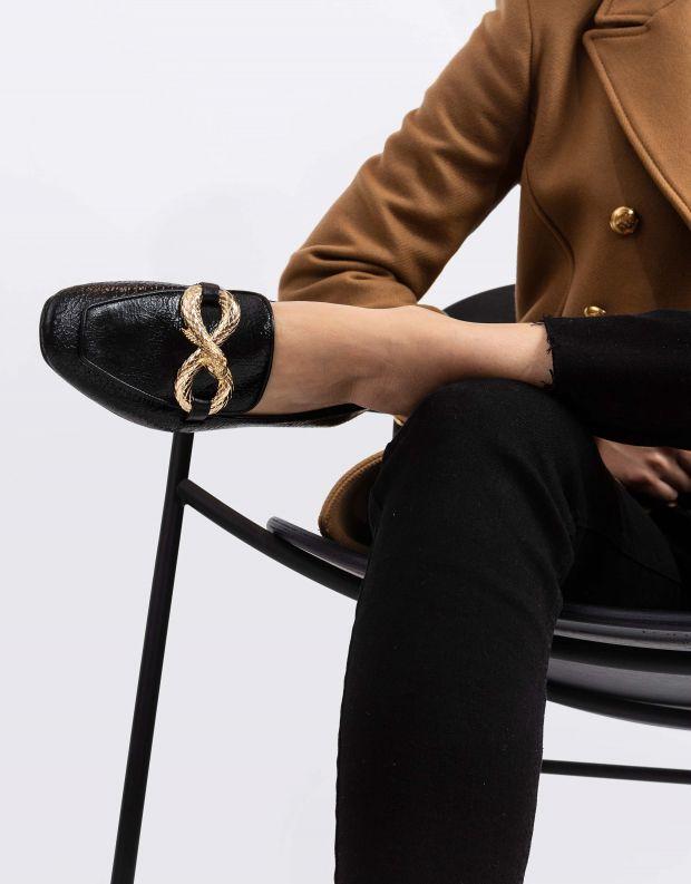 נעלי נשים - Schutz - נעלי מוקסינים GAGE - שחור