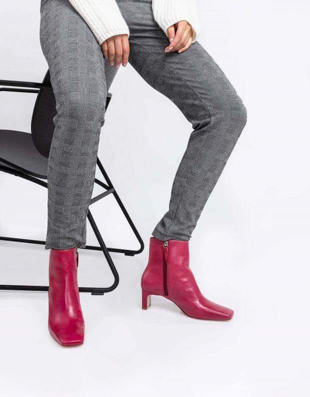 נעלי נשים - Schutz - מגפונים מרובעים MARJI - אדום