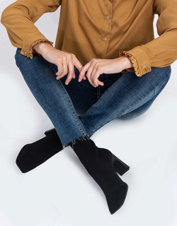 נעלי נשים - Schutz - מגפונים מרובעים LYLIANE - שחור