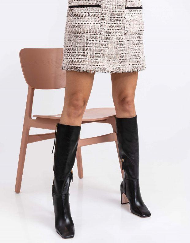 נעלי נשים - Schutz - מגפיים גבוהים LARITTA - שחור
