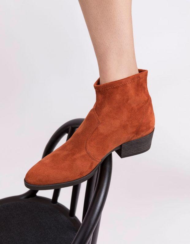 נעלי נשים - NR Rapisardi - מגפוני עקב טבעוניים THORA - כתום