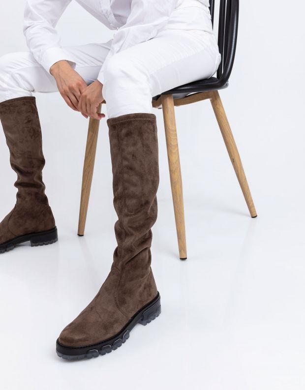 נעלי נשים - NR Rapisardi - מגפיים גבוהים IRA - חום