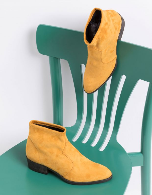 נעלי נשים - NR Rapisardi - מגפוני עקב טבעוניים THORA - צהוב