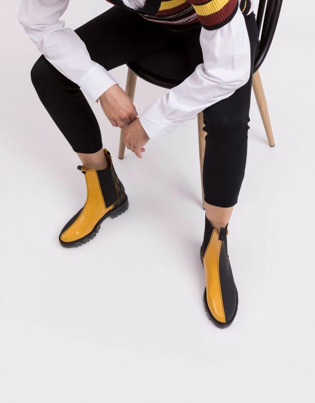 נעלי נשים - NR Rapisardi - מגפונים טבעוניים ILMA - שחור צהוב