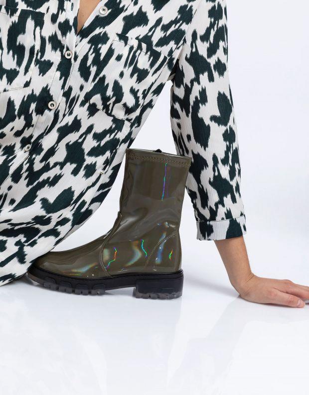 נעלי נשים - NR Rapisardi - מגפונים INA PATENT - ירוק