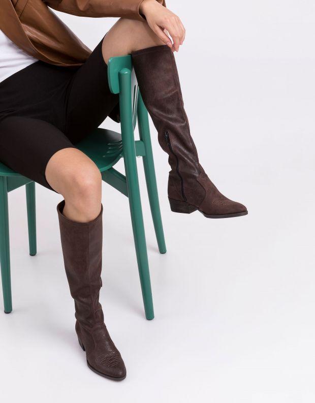 נעלי נשים - NR Rapisardi - מגפיים טבעוניים TECLA - חום