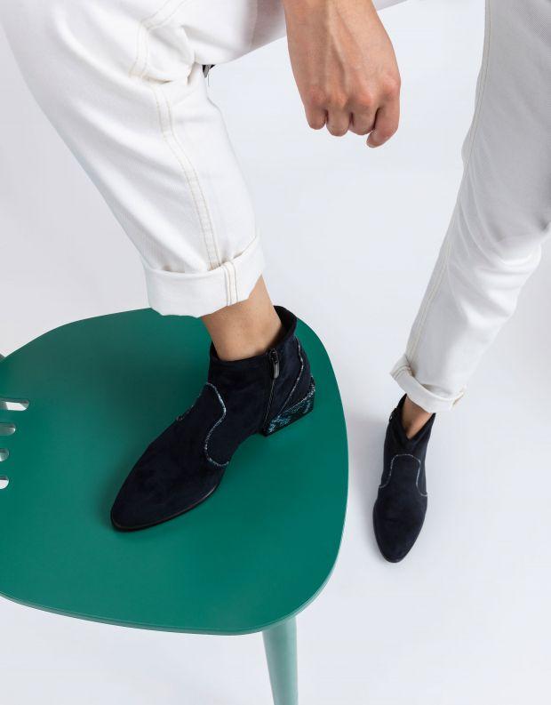 נעלי נשים - NR Rapisardi - מגפונים טבעוניים LISA - כחול