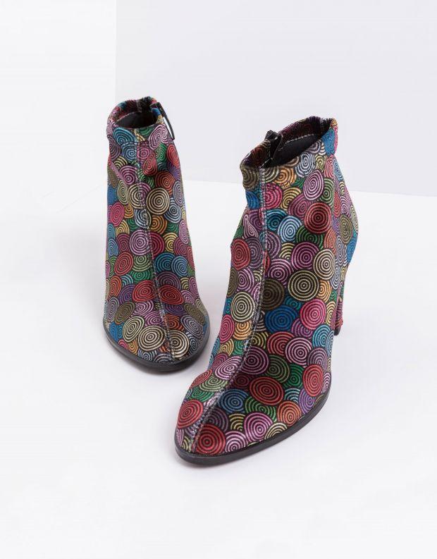 נעלי נשים - NR Rapisardi - מגפוני עקב טבעוניים FEO - צבעוני