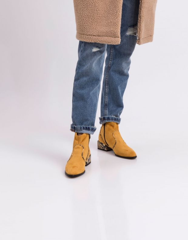 נעלי נשים - NR Rapisardi - מגפונים טבעוניים LISA - צהוב
