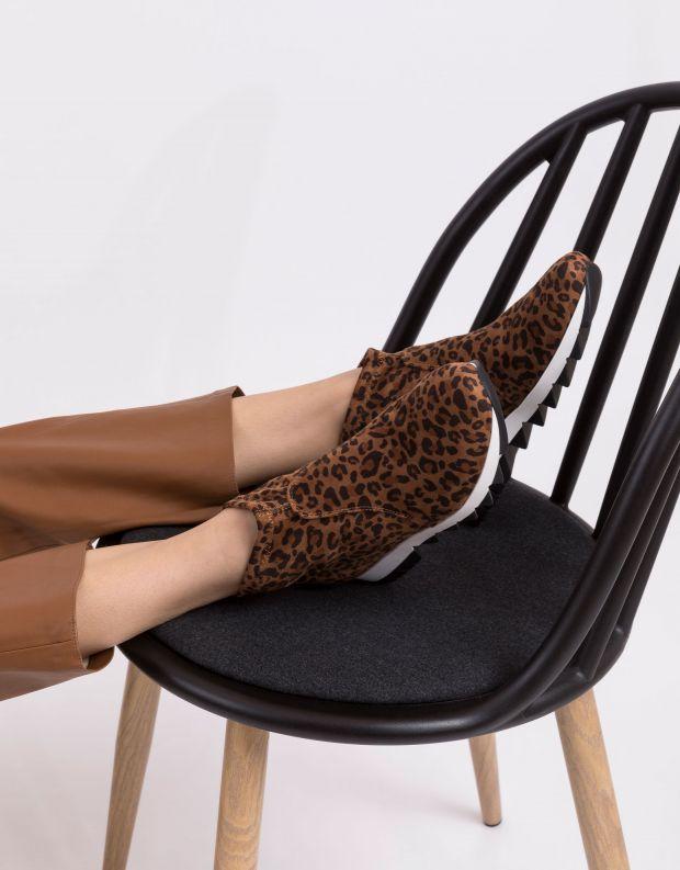 נעלי נשים - NR Rapisardi - מגפוני בד BERLINO ENIMAL - נמר