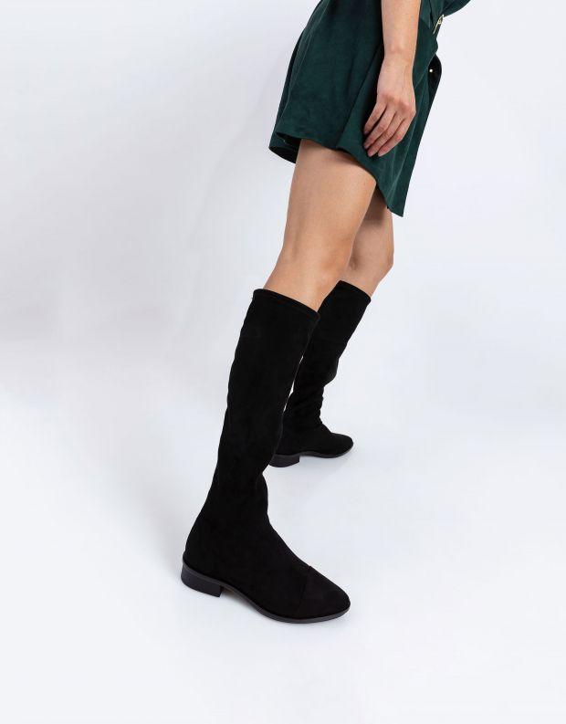נעלי נשים - NR Rapisardi - מגפי דמוי זמש EMMA - שחור