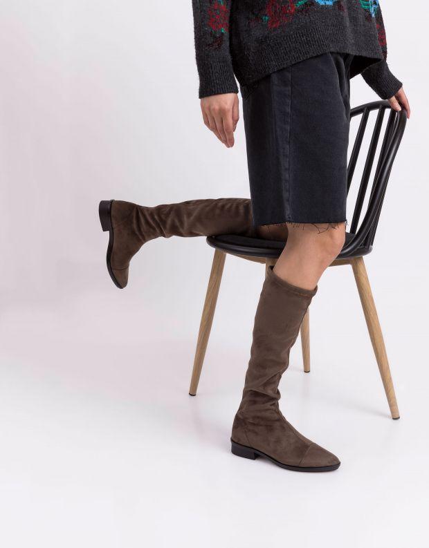 נעלי נשים - NR Rapisardi - מגפי דמוי זמש EMMA - חום
