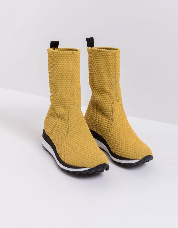 נעלי נשים - NR Rapisardi - מגפונים טבעוניים BUIA - צהוב