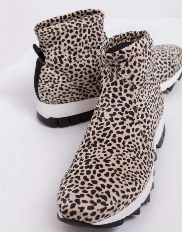 נעלי נשים - NR Rapisardi - מגפוני בד BERLINO ENIMAL - לבן נקודות