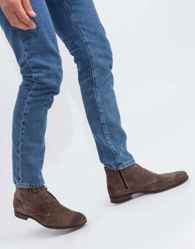נעלי גברים - Sneaky Steve - נעל DIRTY MID SUEDE - אפור