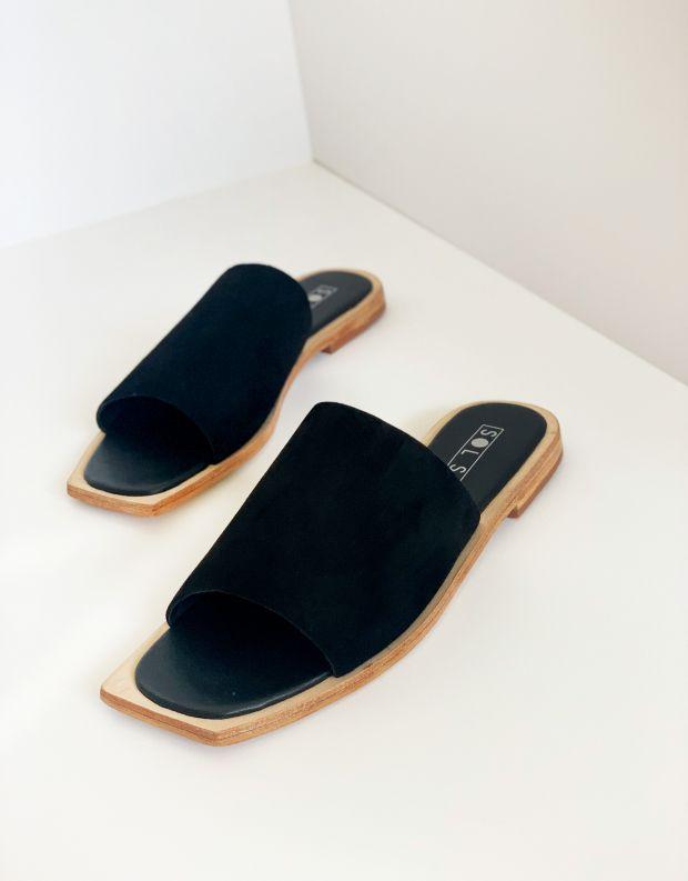 נעלי נשים - SOL SANA - כפכפים שטוחים MADONNA - שחור