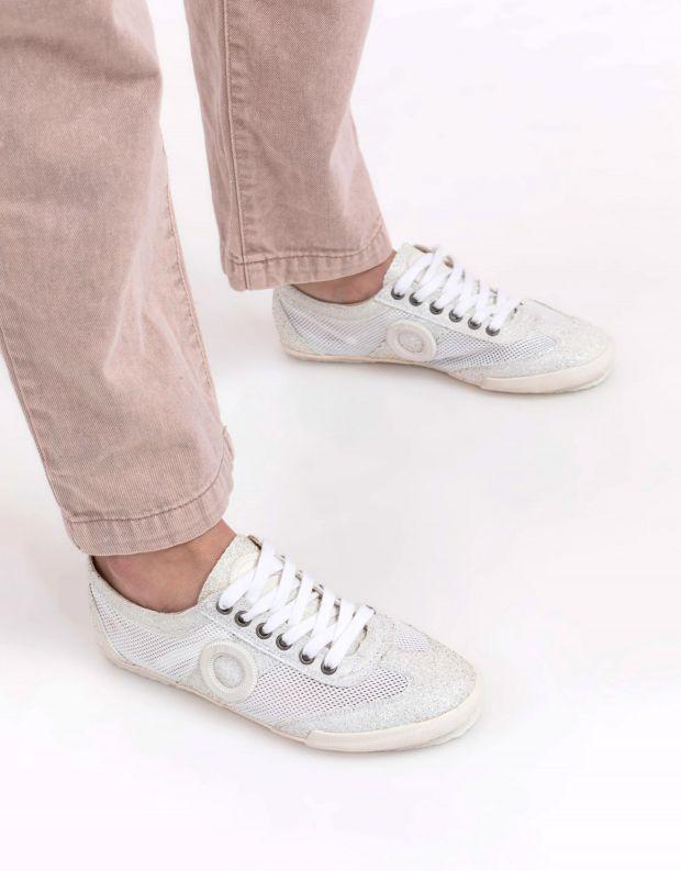 נעלי נשים - Aro - סניקרס JOANETA מנצנצות - לבן