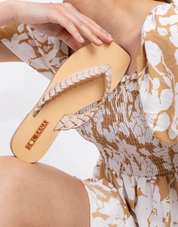 נעלי נשים - SOL SANA - כפכפי אצבע שטוחים LOTUS - אופוויט