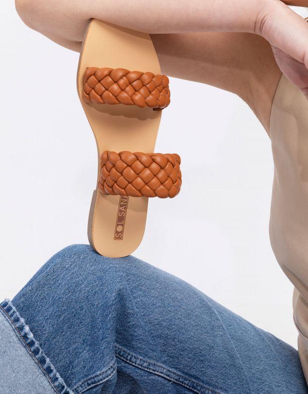 נעלי נשים - SOL SANA - כפכפים שטוחים LYRIC - קאמל