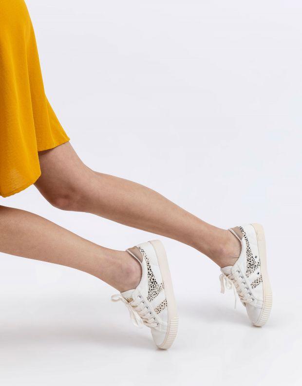 נעלי נשים - Gola - סניקרס TENNIS MARK COX SA - לבן נקודות