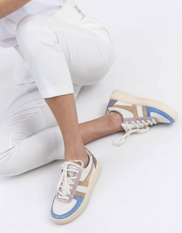 נעלי נשים - Gola - סניקרס GRANDSLAM QUADRANT - לבן   זהב