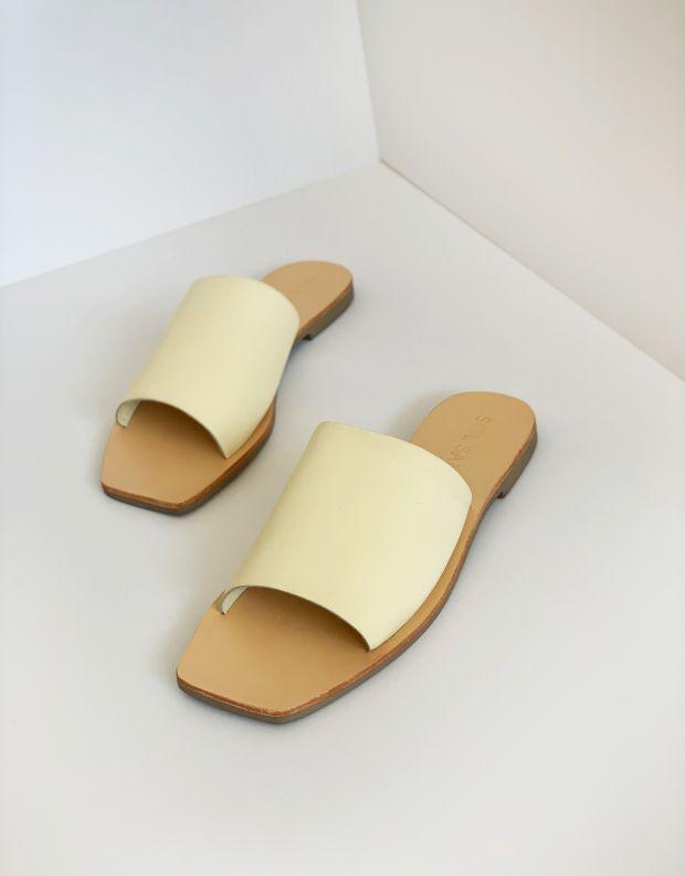נעלי נשים - SOL SANA - כפכפיים שטוחים MILA - אופוויט