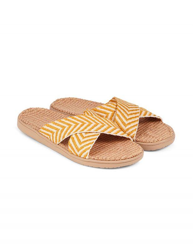 נעלי נשים - Lovelies - כפכפי בד איקס FORMENTERA - צהוב