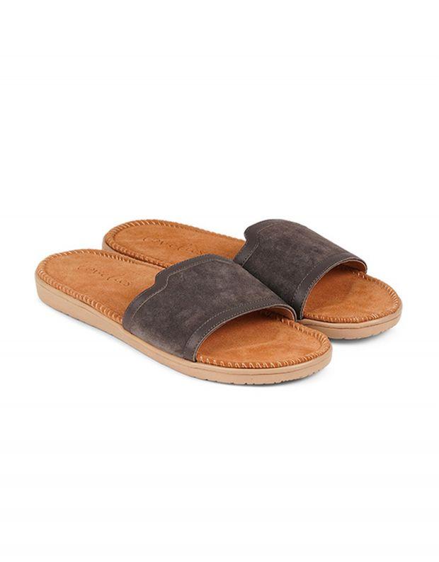 נעלי נשים - Lovelies - כפכפי זמש רצועה רחבה BODR - אפור
