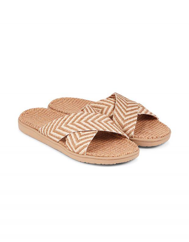 נעלי נשים - Lovelies - כפכפי בד איקס FORMENTERA - חום