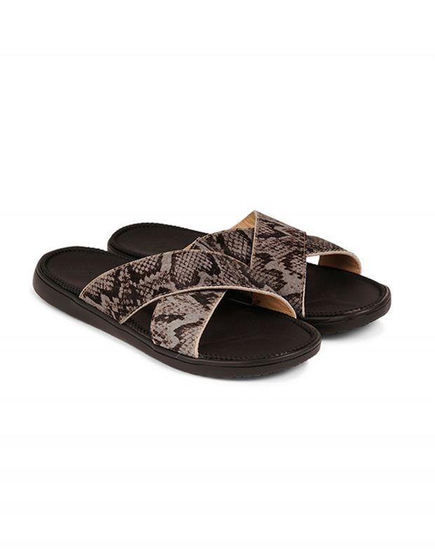 נעלי נשים - Lovelies - כפכפי עור MOMBASSA - אפור