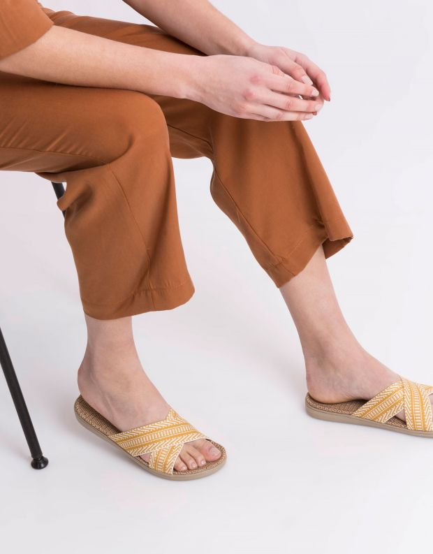 נעלי נשים - Lovelies - כפכפי בד PHI PHI - צהוב