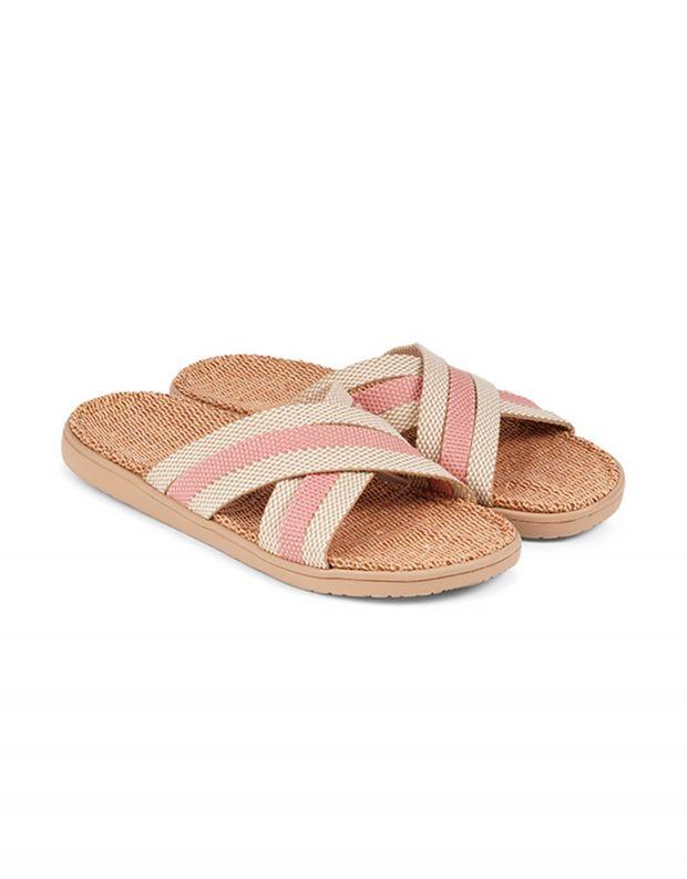 נעלי נשים - Lovelies - כפכפי בד POLHENA משולבים - ורוד