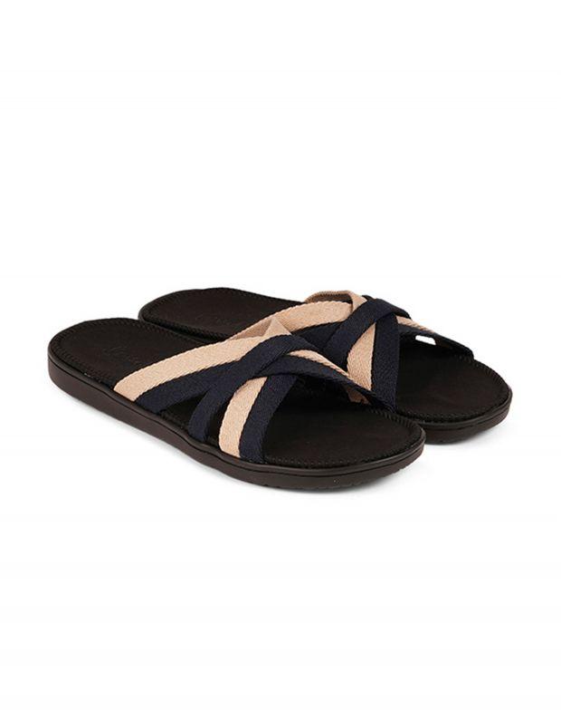 נעלי נשים - Lovelies - כפכפי רצועות מבד MALA - שחור   בז'