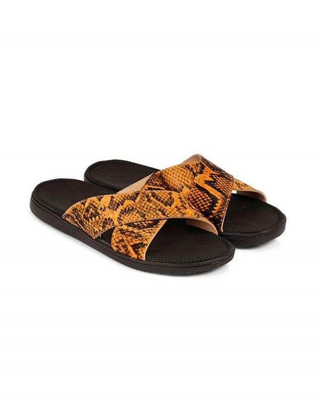 נעלי נשים - Lovelies - כפכפי עור MOMBASSA - צהוב