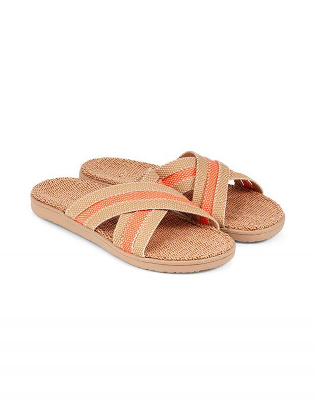 נעלי נשים - Lovelies - כפכפי בד POLHENA משולבים - כתום