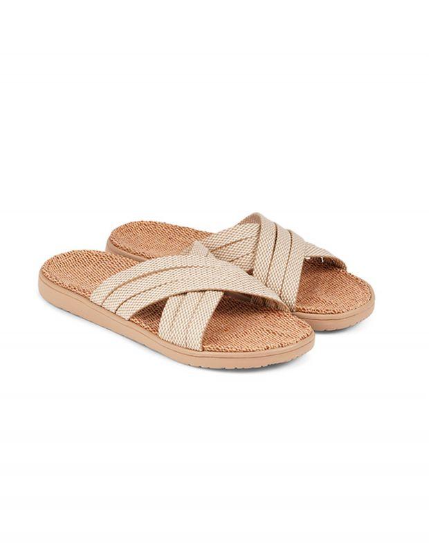 נעלי נשים - Lovelies - כפכפי בד POLHENA - בז'