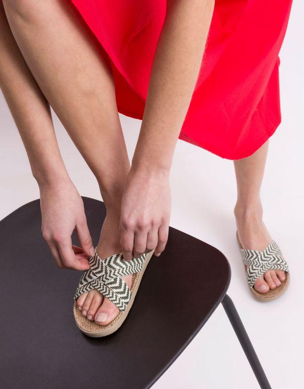 נעלי נשים - Lovelies - כפכפי בד LAGUNA - ירוק