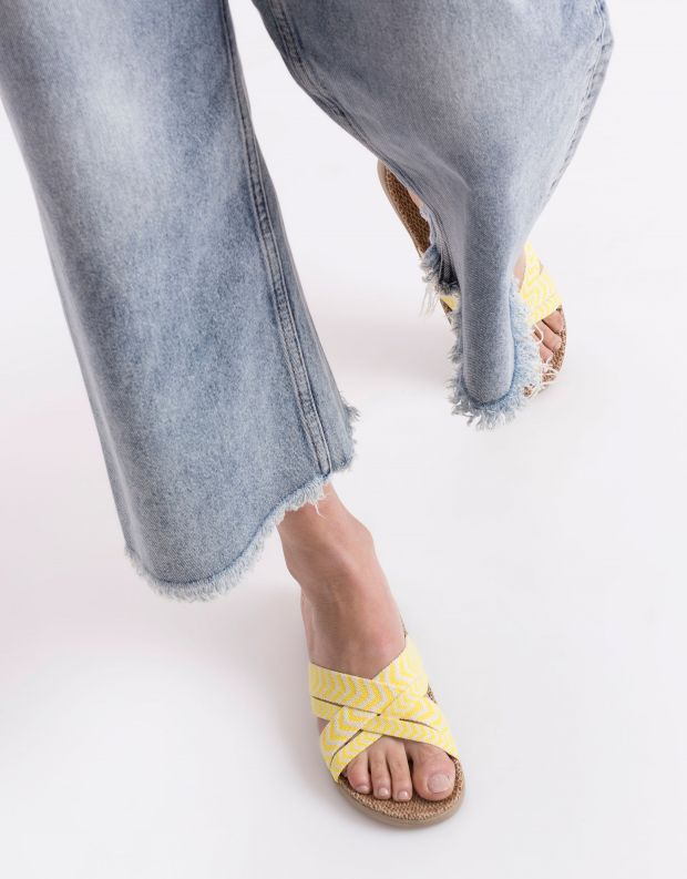 נעלי נשים - Lovelies - כפכפי בד LAGUNA - צהוב