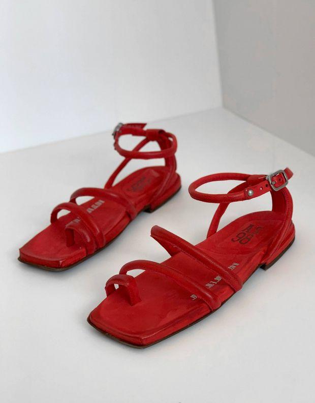 נעלי נשים - A.S. 98 - סנדלי רצועות שטוחים TAKE - אדום
