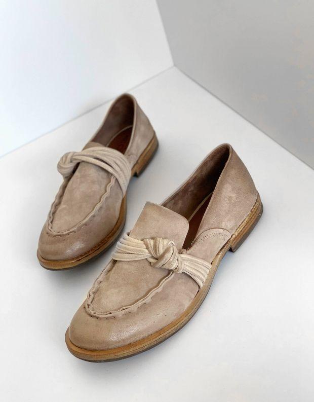נעלי נשים - A.S. 98 - מוקסינים עם קשר ZEPORT - אפור
