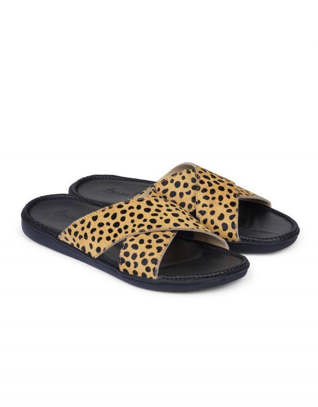 נעלי נשים - Lovelies - כפכפי עור MOMBASSA - בז'   שחור