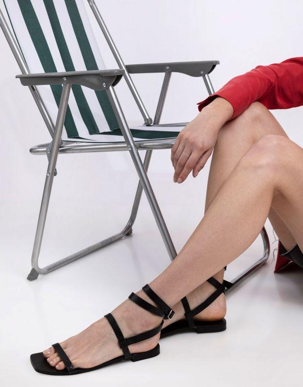 נעלי נשים - SOL SANA - סנדלים שטוחים JASMINE - שחור