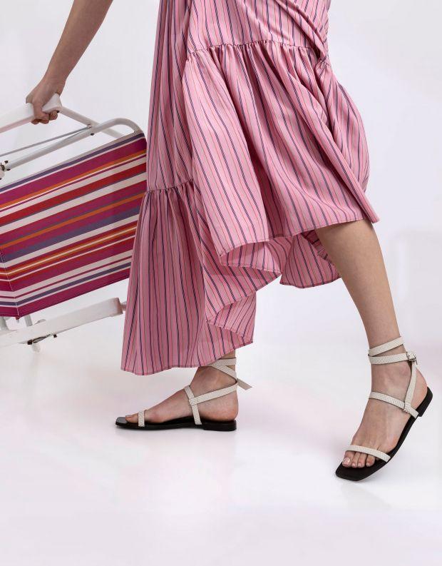 נעלי נשים - SOL SANA - סנדלים שטוחים JASMINE - אופוויט