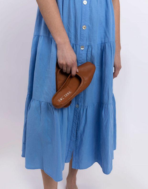 נעלי נשים - SOL SANA - כפכפים שטוחים סגורים HALL - קאמל