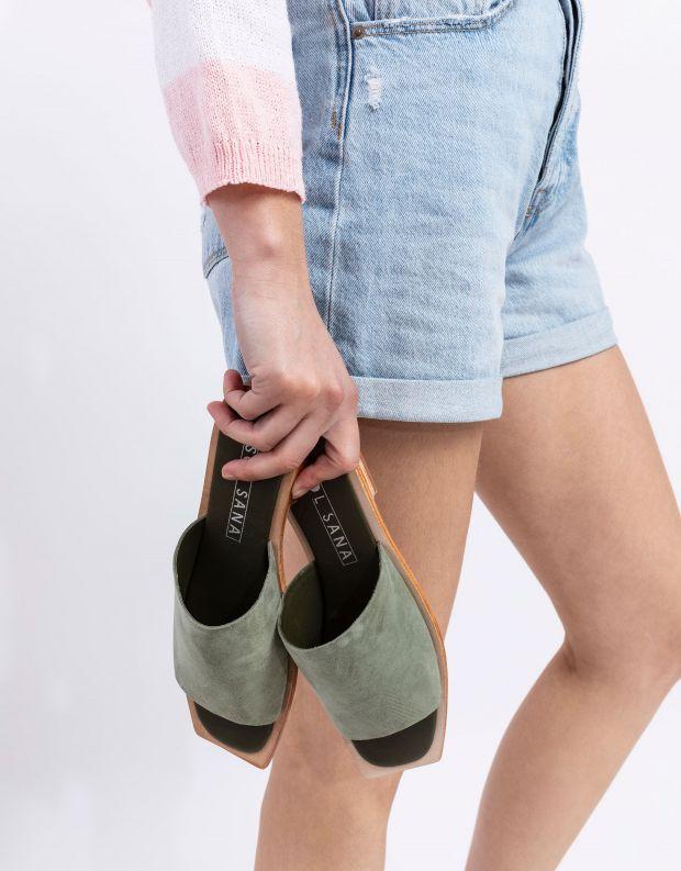 נעלי נשים - SOL SANA - כפכפים שטוחים MADONNA - זית