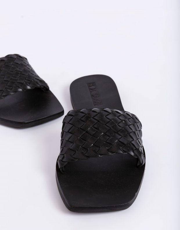 נעלי נשים - SOL SANA - כפכפים שטוחים MARIGOLD - שחור