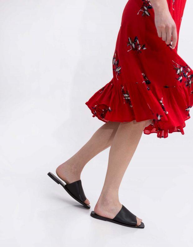 נעלי נשים - SOL SANA - כפכפיים שטוחים MILA - שחור