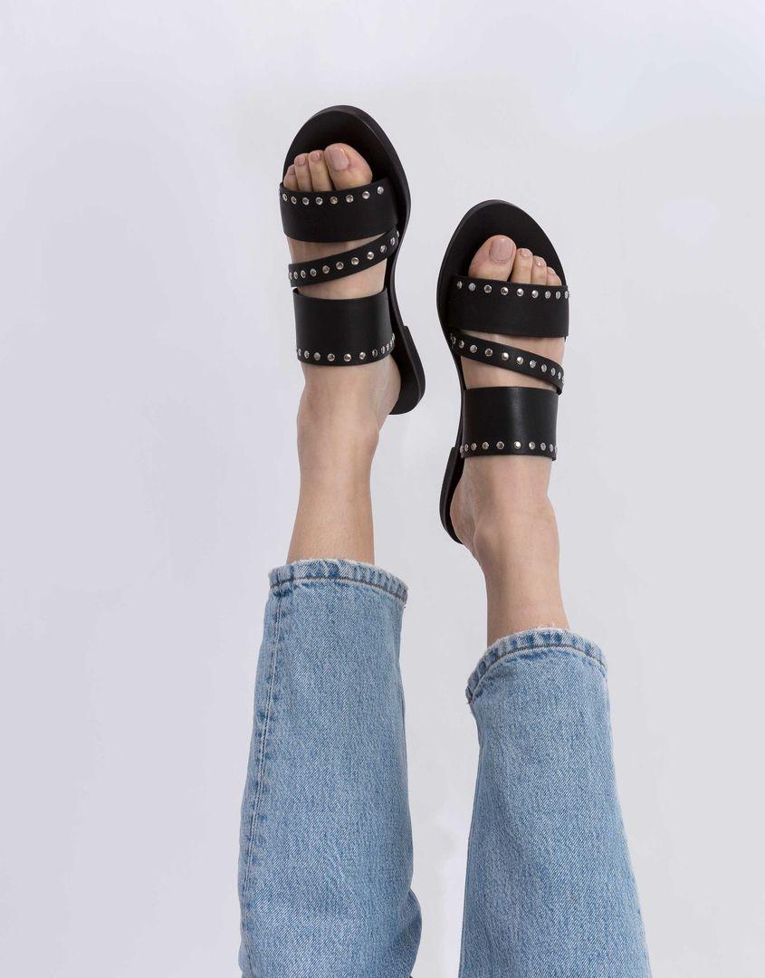 נעלי נשים - SOL SANA - כפכפים שטוחים BETTY - שחור